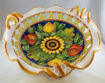 Traditional Sicilian Decorative Sunflower Centerpiece