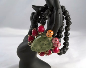 Traditional Sicilian Prickly Pears Bracelet