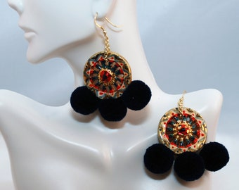 "Traditional Sicilian Earrings ""Chariot Wheel"""