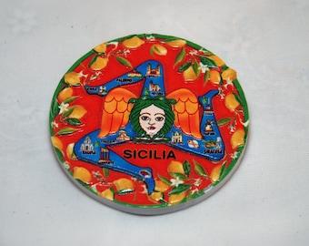 Traditional Sicilian Trinacria Magnet
