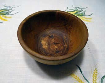 Olive Wood Change Coin and Key Dish/Bowl