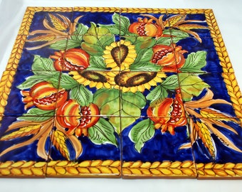 Sicilian Traditional Ceramic Mural (Tile Composition)
