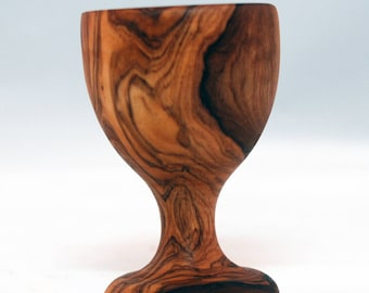 Olive Wood Vintage Egg Holder