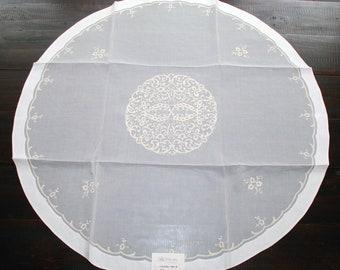 "Sicilian Organdy Tea Tablecloth ""Caldera'"""