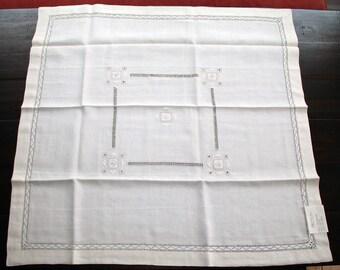 """Sicilian Linen Tea Tablecloth Set """"Pellaro"""""""