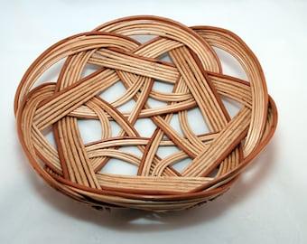 "Traditional Sicilian Willow ""Vimini"" Celtic Knot Basket/Bowl"