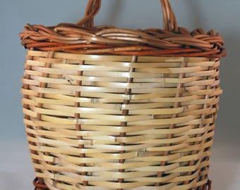 """Traditional Sicilian Willow """"Vimini"""" Basket - """"Cesto a muro"""""""