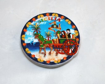 Traditional Sicilian Chariot Magnet