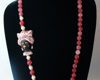 Traditional Sicilian Head Necklace