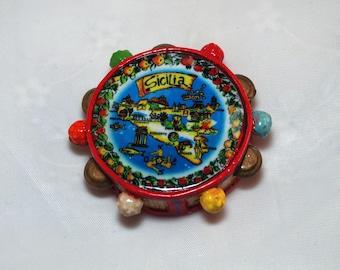 Traditional Sicilian Tamburello Magnet