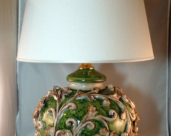 Traditional Sicilian Baroque Table Lamp