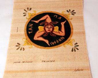 "Traditional Sicilian Papyrus ""Trinacria"""