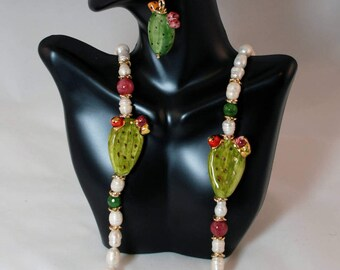 Traditional Sicilian Prickly Pears Necklace