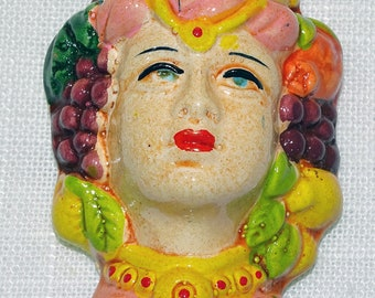 Traditional Sicilian Princess' Head Magnet