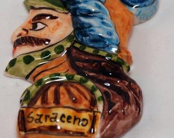 "Traditional Sicilian Magnet Paladin ""Saraceno"" (Saracen)"