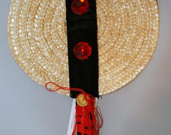 "Traditional Sicilian Hand Fan ""U Cornu"" (The Horn)"
