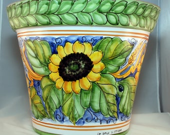 Traditional Sicilian Decorated Vase