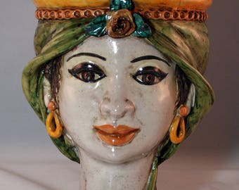 "Traditional Sicilian Princess Head ""Testa di Moro"""