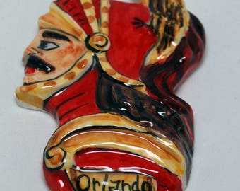 "Traditional Sicilian Magnet Paladin ""Orlando"" (Roland)"