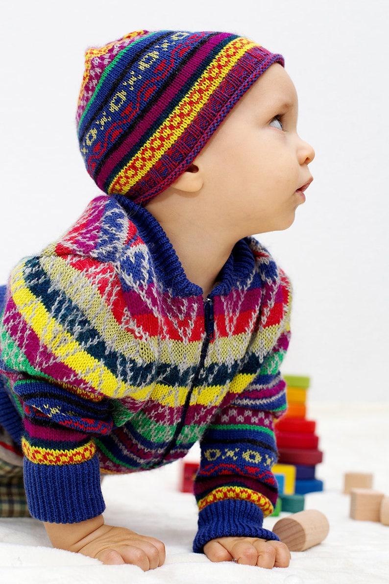 Gilet Noël Bébé Tricot Vestes Veste En Alpaga Rainbow Filles Enfants Cadeau Laine De Bombardier Pérou trCBsdxhQo