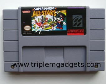 Super Mario All Stars with Super Mario World - Super Nintendo NTSC Reproduction Cartridge
