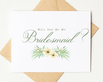 Will You Be My Bridesmaid Proposal Card | Will You Be My Maid of Honor Card | Bridesmaid Invitation | Bridal Party Card | Style #LGW2174
