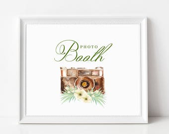 Wedding Photo Booth Sign | Wedding Photo Booth Signage | NO FRAME, Style #2174
