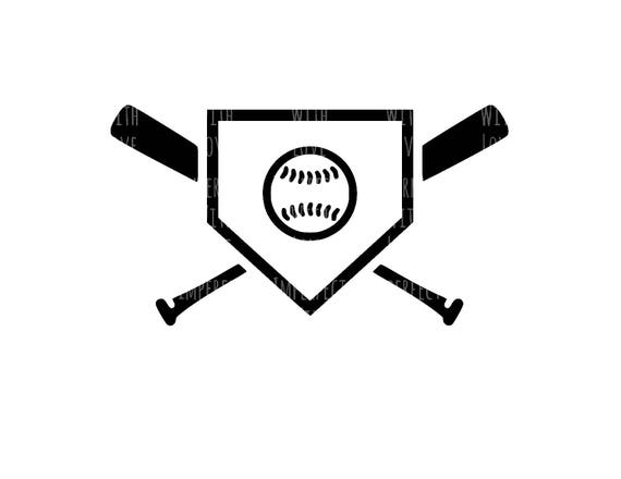 Items Similar To Baseball Home Plate Baseball Bat Digital