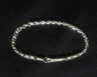 silver wire handmade chain