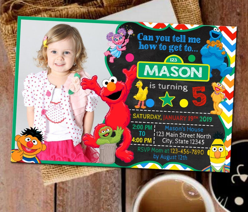 Sesame Street Invitation Party