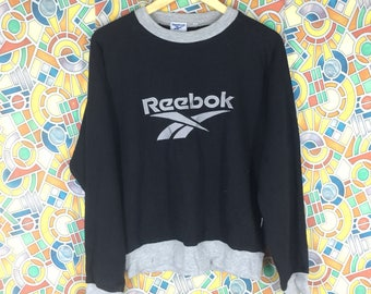 d4d92d0da rare!! vintage reebok big logo embroidered sweatshirt pull over jumper crew  neck