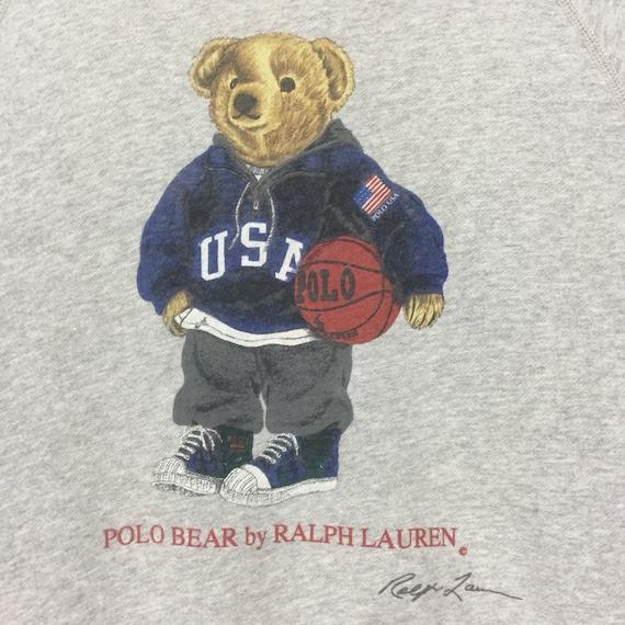 ... polo Vintage lauren ralph évoquer lauren Vintage polo ours gros logo  sweatshirt pull logo 7e9371 f6004060000