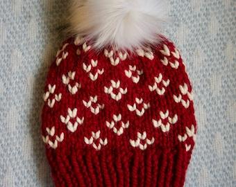 PATTERN // The Lucinda Beanie // Fair Isle Knitting Pattern // Women's Hat Knitting Pattern // Easy Fair Isle // Chunky Knit Pattern // Cozy