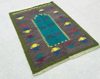 "Turkish Runner Tulu , Vintage Turkish Tulu Rug, Runner Tulu , Home Living , Vintage Runner Rug, Handmade Tulu , 158 cm x 65 cm ,5'1"" X 2'1"""