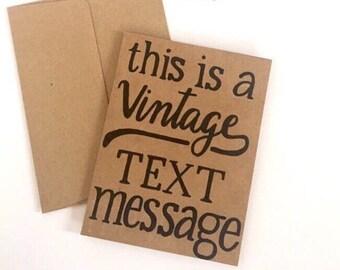 Vintage Text Message