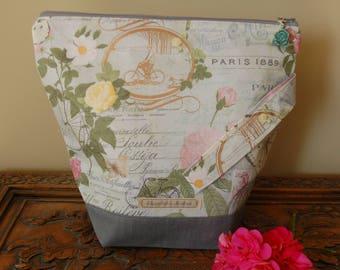 Paris Knitting Project bag, medium