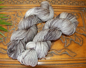 Storm Clouds-hand dyed, BFL Sock yarn