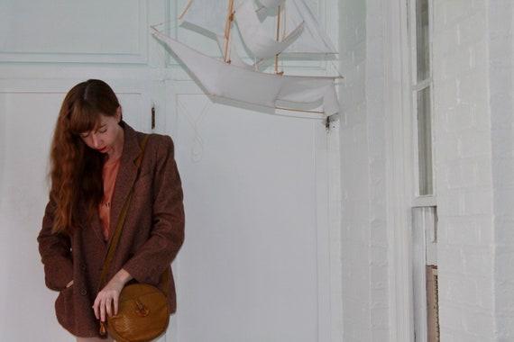 Vintage Julie Christie Tweed Boxy Cut Blazer Jacke