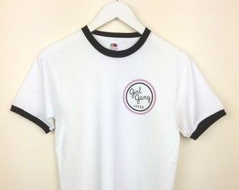 Girl Gang Leeds Logo Ringer T-shirt
