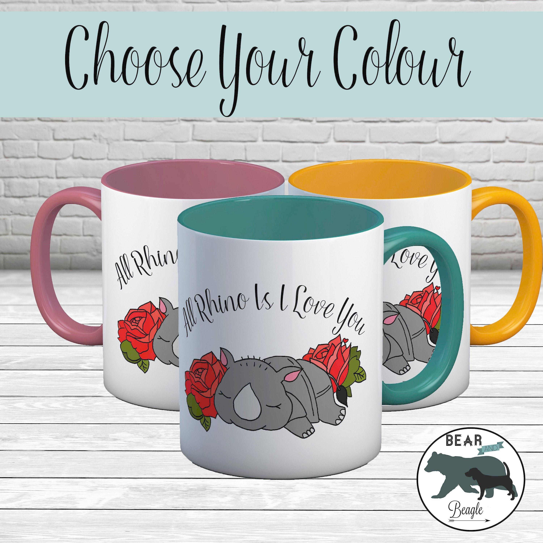Mug Rhino is i love you coffee mug