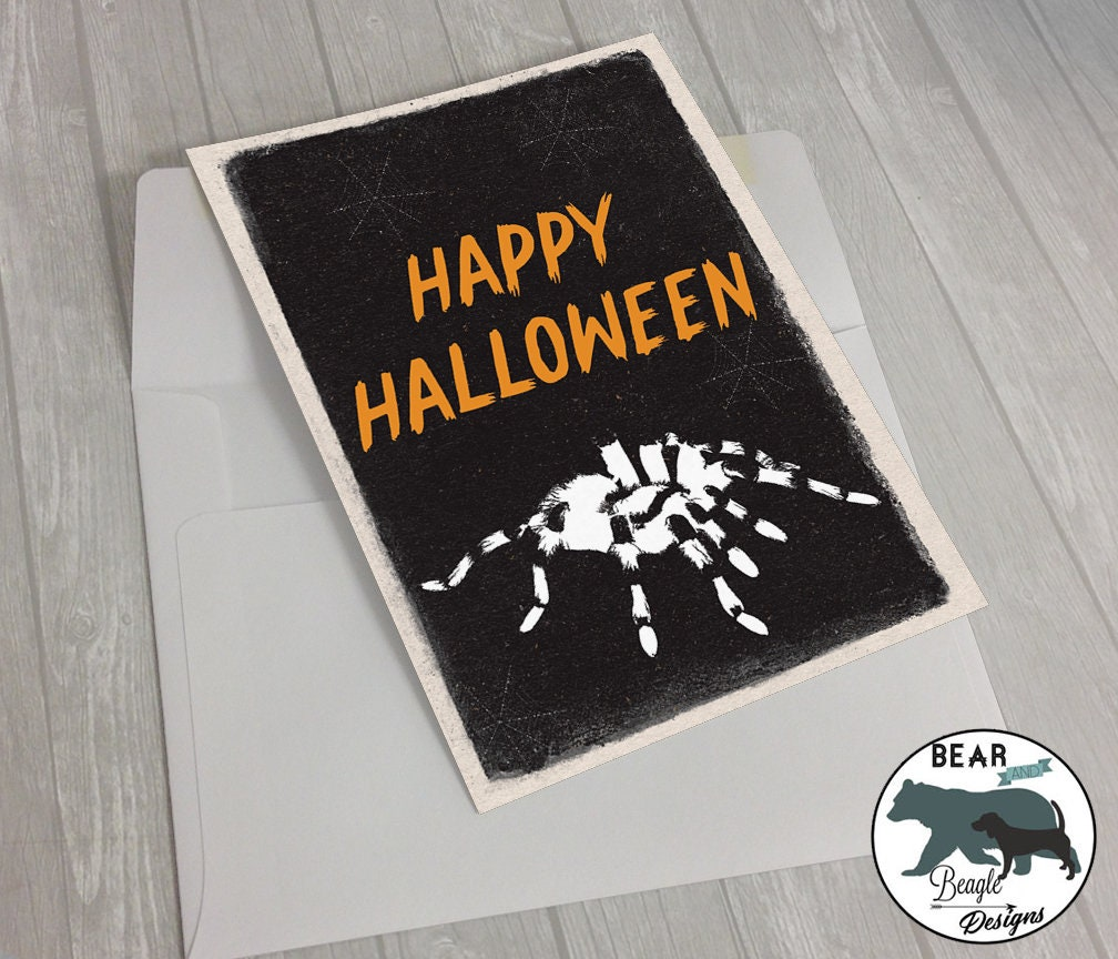 Happy Halloween Trick or Treat SPIDER greeting card