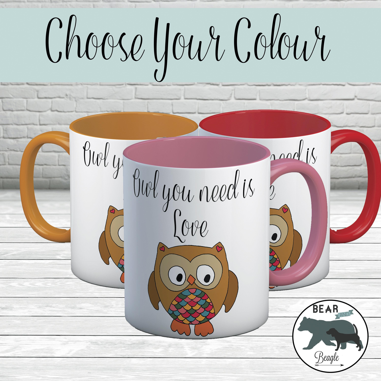 Mug Owl you need is love coffee mug