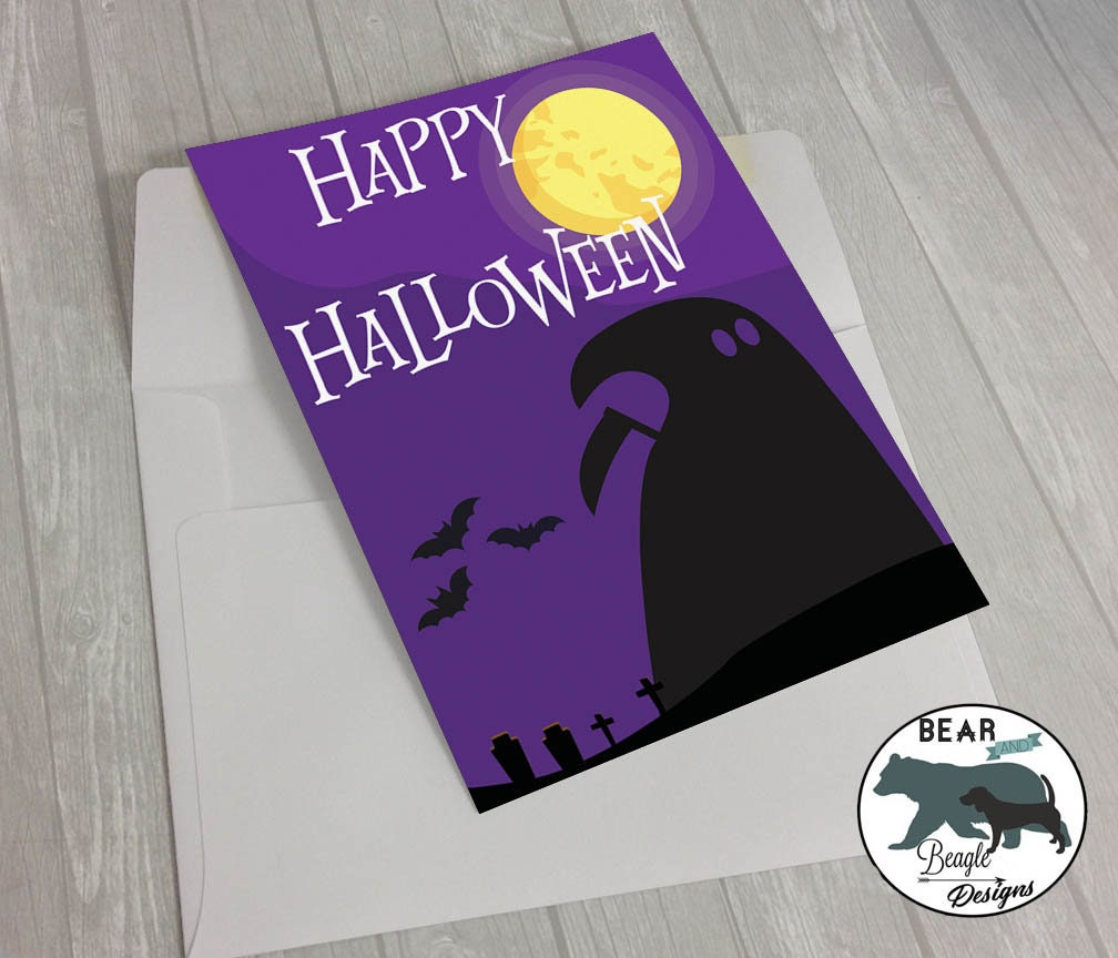 Happy Halloween grim reaper greeting card