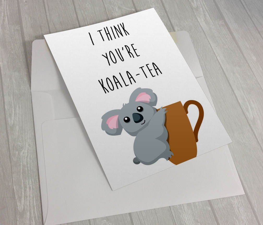 Koala-Tea Pun Card