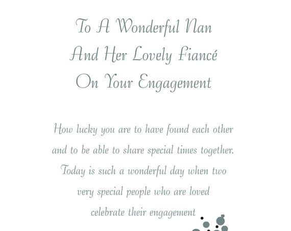Nan & Fiance Engagement Card