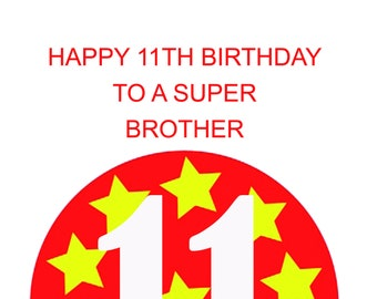 Brother 11th Birthday Card