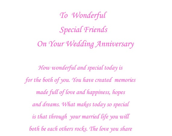 Special Friends Anniversary Card