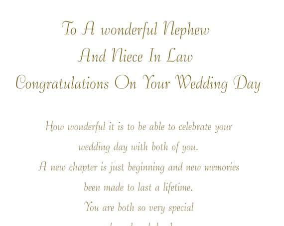 Nephew & Niece in Law Wedding Card