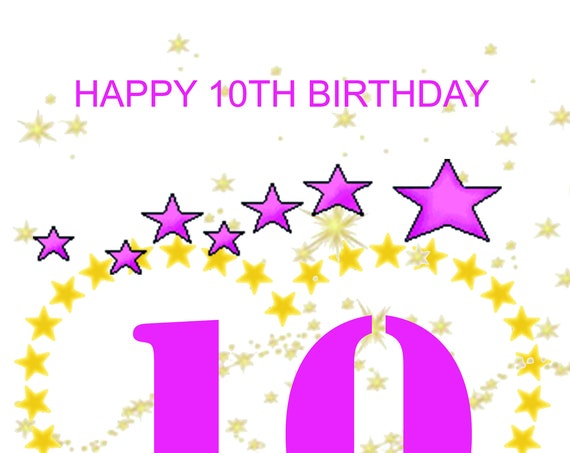 Happy 10th Birthday Card girl
