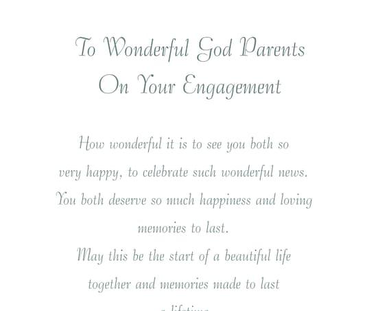God Parents Engagement Card
